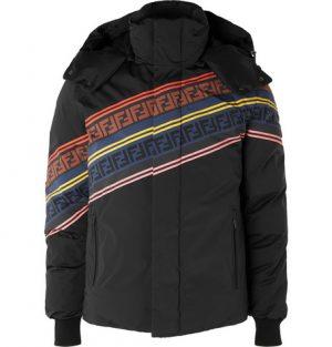Fendi - Printed Quilted Down Ski Jacket - Black