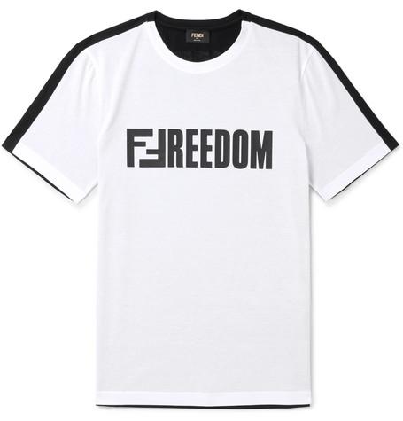 Fendi - Slim-Fit Logo-Print Cotton-Jersey T-Shirt - White