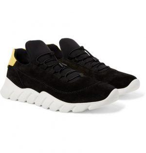 Fendi - Suede and Neoprene Sneakers - Black