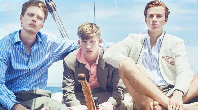 Connor Newall, Iwan Zalewski & Tymon Rutkowski Spend a Day at Sea with GQ China