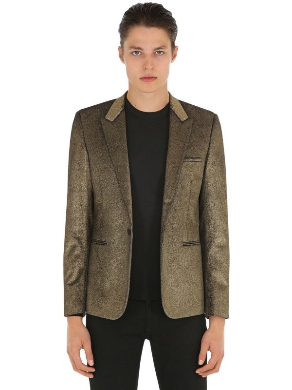 Gold Sprayed Velvet Jacket