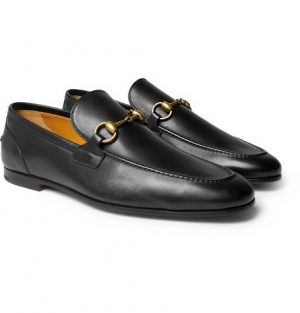 Gucci - Horsebit Leather Loafers - Black