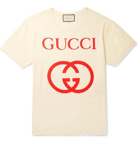 Gucci - Logo-Print Cotton-Jersey T-Shirt - White