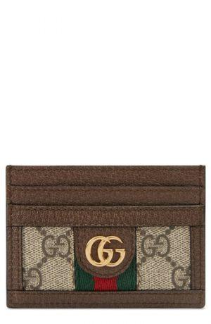 Gucci Ophidia Gg Supreme Card Case - Beige