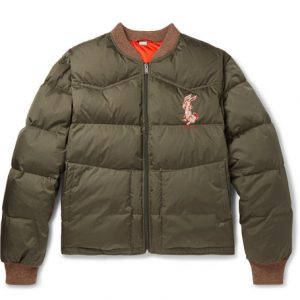 Gucci - Quilted Embroidered Ripstop Down Jacket - Green