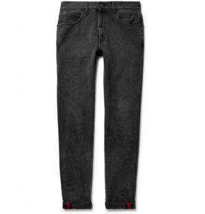 Gucci - Slim-Fit Washed-Denim Jeans - Black