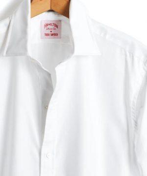 Hamilton Tuxedo Shirt with French Cuff in White