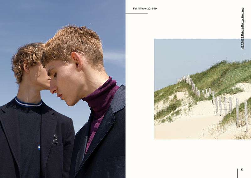 Dennis Weber photographs Mats Engel and Yanniek Buijs in Hermès.