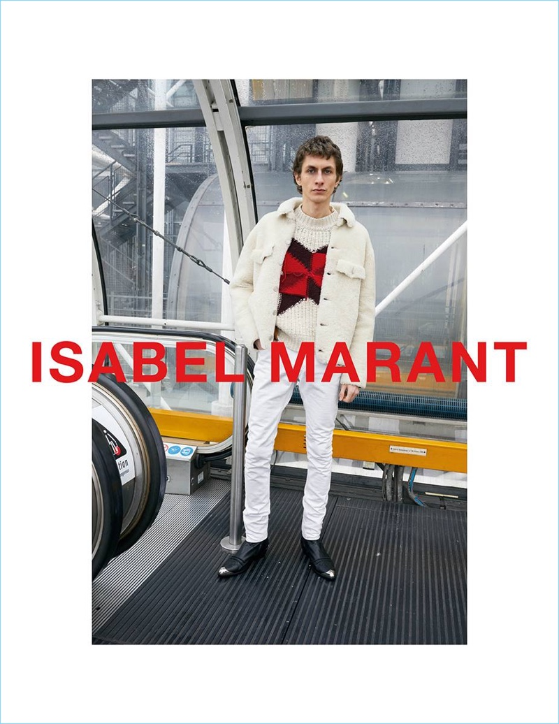 Henry Kitcher stars in Isabel Marant's fall-winter 2018 campaign.