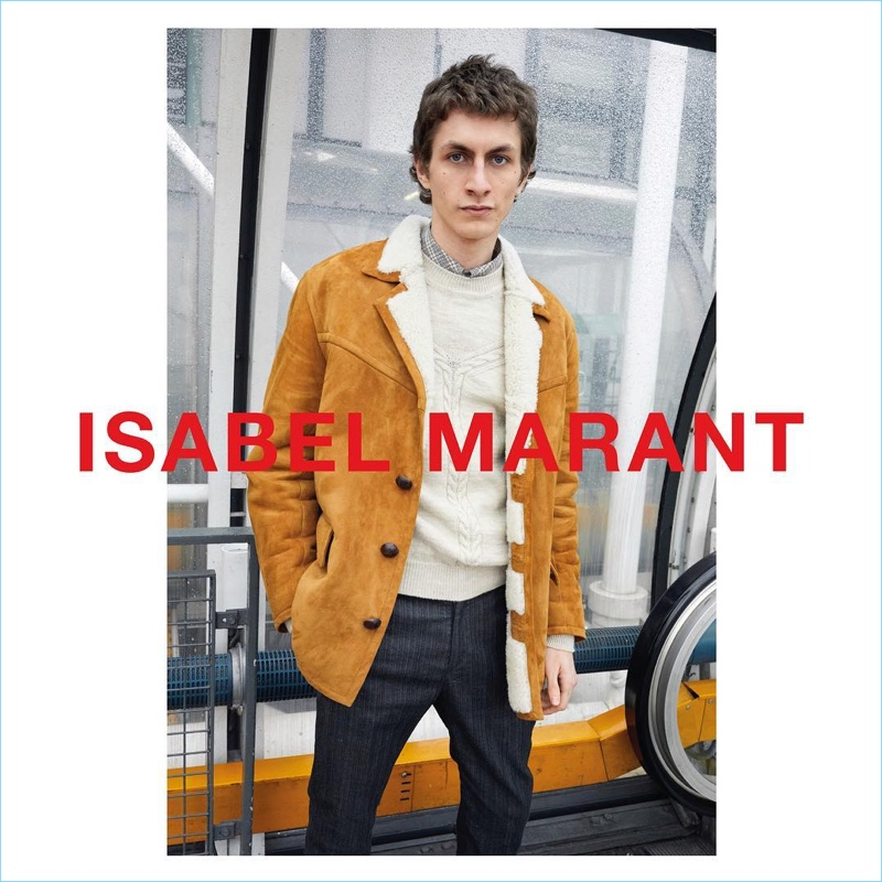 Juergen Teller photographs Henry Kitcher for Isabel Marant's fall-winter 2018 campaign.