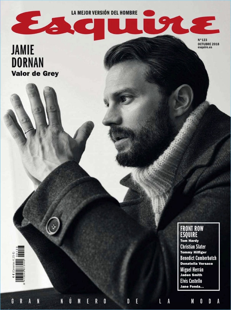 Jamie Dornan covers the October 2018 issue of Esquire España.