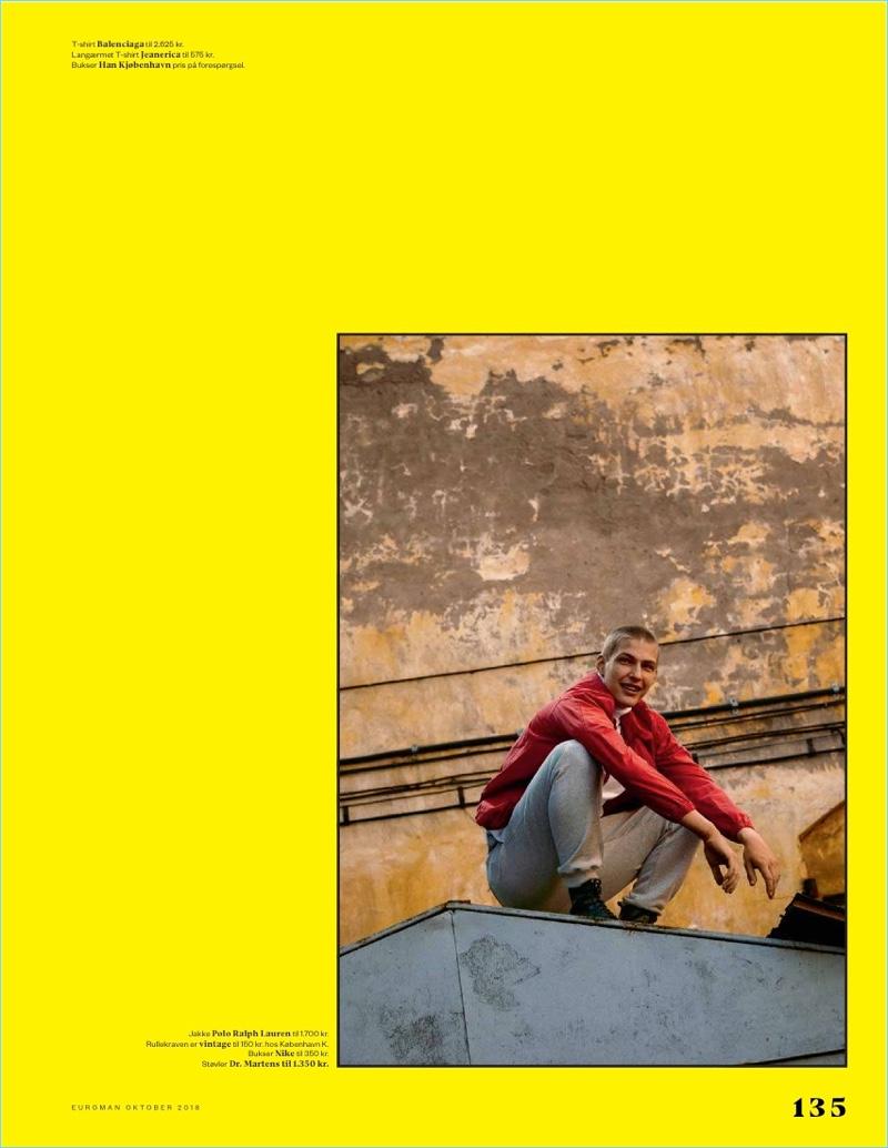 Jaroslav Opoka Embraces Sporty Street Vibes for Euroman