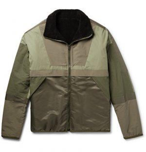 John Elliott - Reversible Cotton-Fleece and Nylon Jacket - Green
