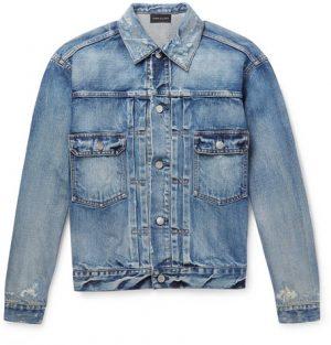 John Elliott - Thumper Distressed Denim Jacket - Blue