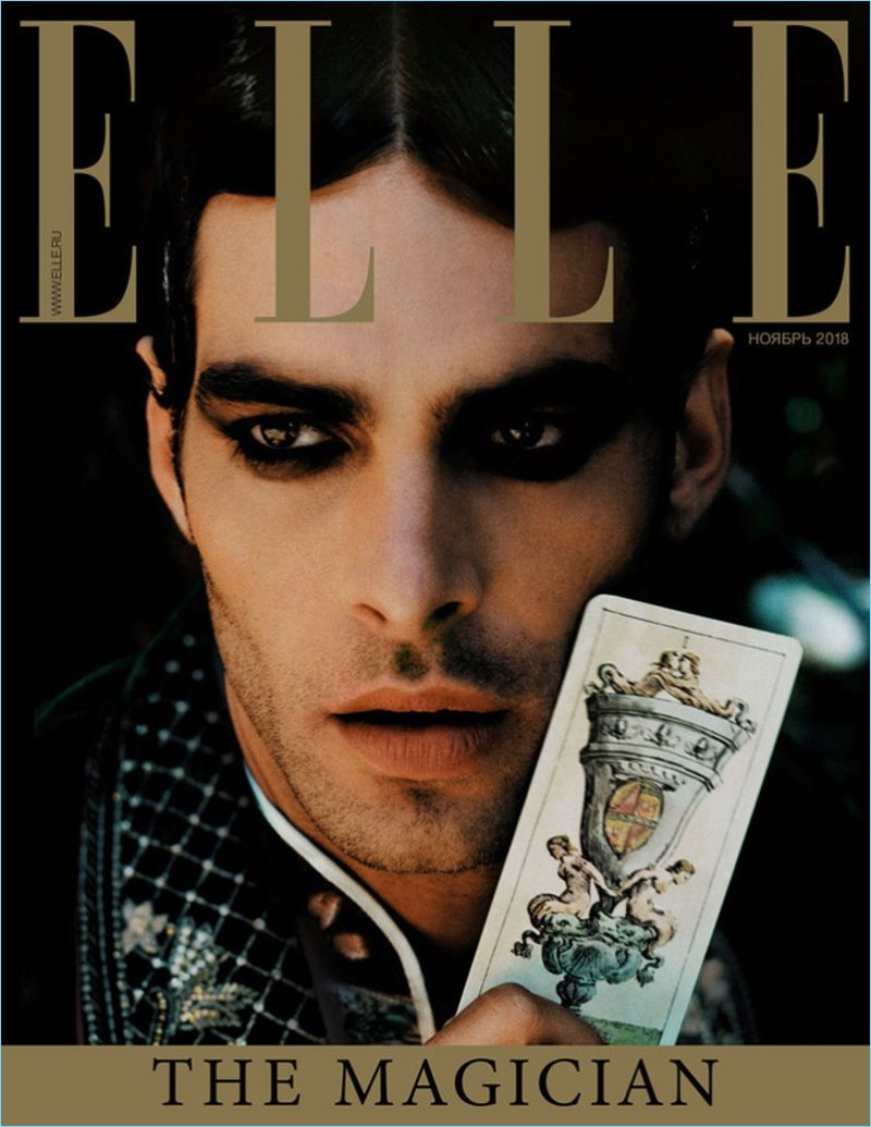 Jon Kortajarena Embraces Dark Edge for Elle Russia