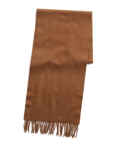 59025f097 Joshua Ellis Solid Cashmere Scarf in Camel | The Fashionisto