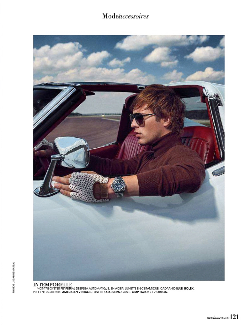Jules Raynal Embraces Racing Style for Madame Figaro