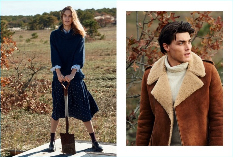 Mirte Maas and Isaac Weber star in Lexington's fall-winter 2018 campaign.