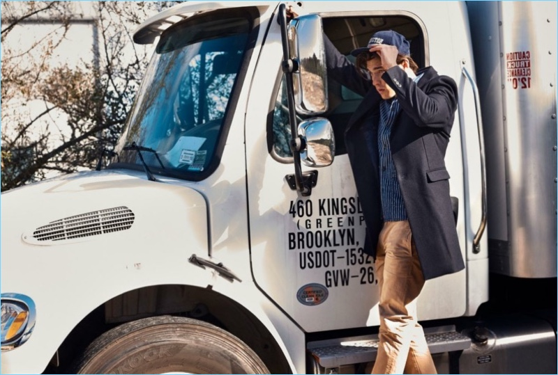 American model Isaac Weber appears in Lexington's fall-winter 2018 campaign.
