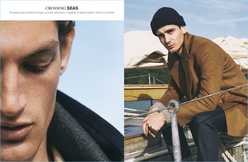 Aaron Shandel and Ben Allen don nautical-insprired styles from Massimo Dutti.