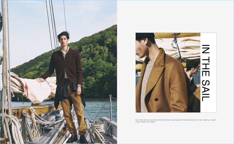 Embracing autumnal hues, Aaron Shandel and Ben Allen wear Massimo Dutti.