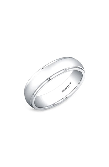 Men's Bony Levy Round White Gold Ring (Nordstrom Exclusive)