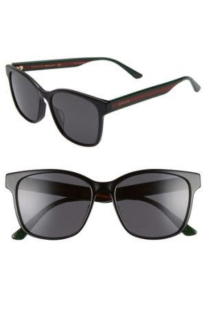 Men's Gucci 56Mm Sunglasses - Black