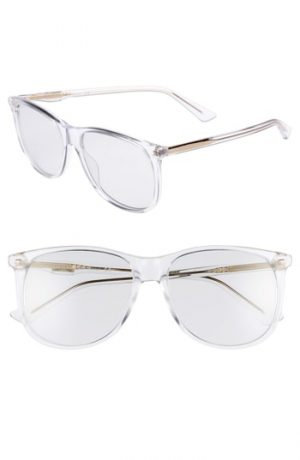 Men's Gucci 80S 56Mm Sunglasses - Crystal