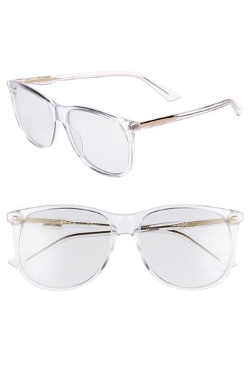 Men's Gucci 80S 56Mm Sunglasses - Crystal