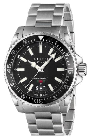 Men's Gucci Dive Bracelet Watch, 40Mm