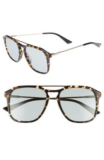 f43afb4eb Men s Gucci Light Combi 55Mm Aviator Sunglasses – Gold  Black