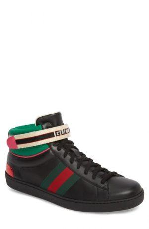 Men's Gucci New Ace Stripe High Top Sneaker