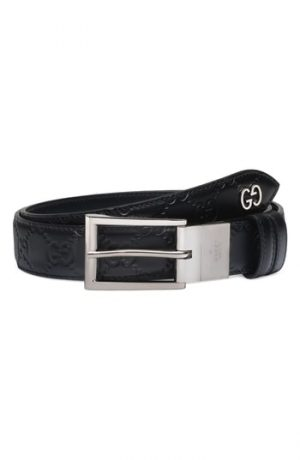 Men's Gucci Reversible Signature Leather Belt