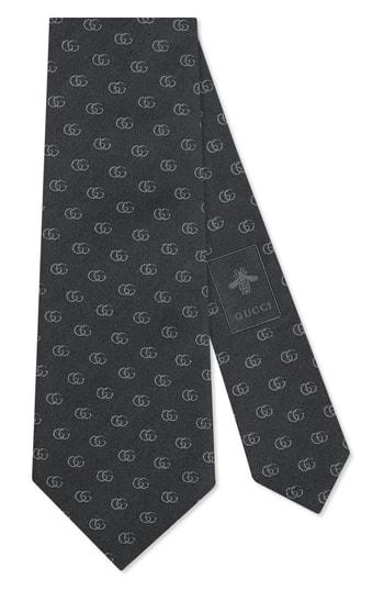Men's Gucci Running Logo Silk Jacquard Tie