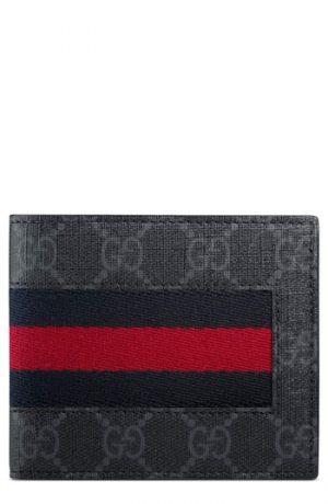 Men's Gucci Supreme Wallet - Black