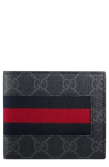 c0f63f9d155b Men's Gucci Supreme Wallet – Black | The Fashionisto