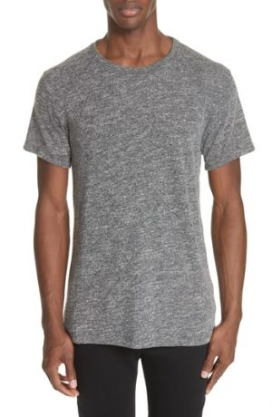 Men's John Elliott Classic Co-Mix Crew T-Shirt, Size Small - Black