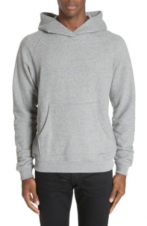 Men's John Elliott Raglan Hooded Sweatshirt, Size Small - Grey