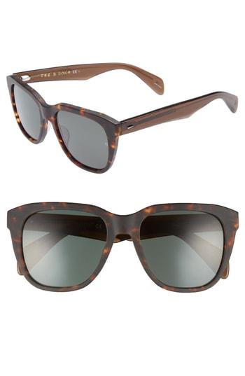 Men's Rag & Bone 54Mm Sunglasses - Matte Havana
