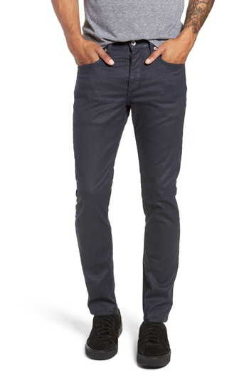 Men's Rag & Bone Fit 2 Slim Fit Coated Twill Pants, Size 28 - Blue