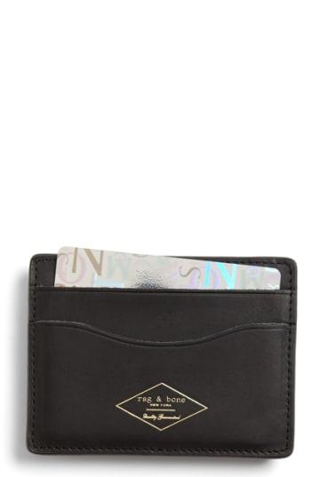 Men's Rag & Bone Leather Card Case -