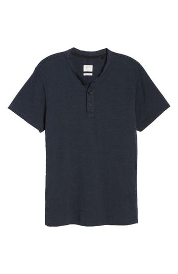 Men's Rag & Bone Standard Issue Henley T-Shirt, Size X-Small - Blue