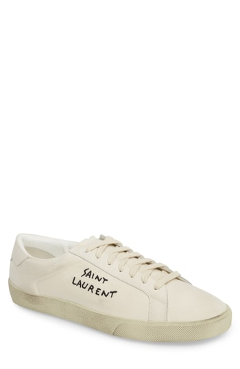 Men's Saint Laurent Logo Embroidered Sneaker