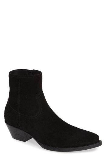 Men's Saint Laurent Lukas Zip Boot, Size 7US / 40EU - Black