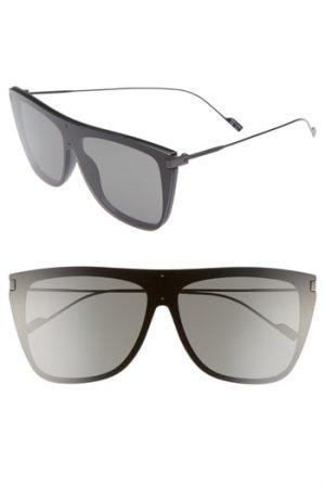 Men's Saint Laurent Sl 1 T 59Mm Flat Top Sunglasses -