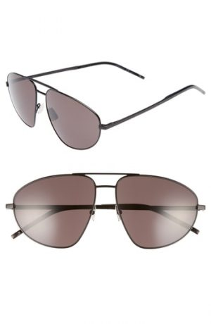Men's Saint Laurent Sl 211 60Mm Aviator Sunglasses -