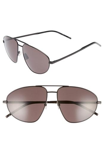Men's Saint Laurent Sl 211 60Mm Aviator Sunglasses -