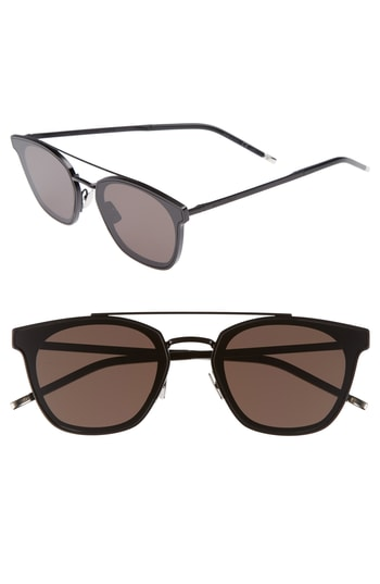 Men's Saint Laurent Sl 28 61Mm Polarized Sunglasses -