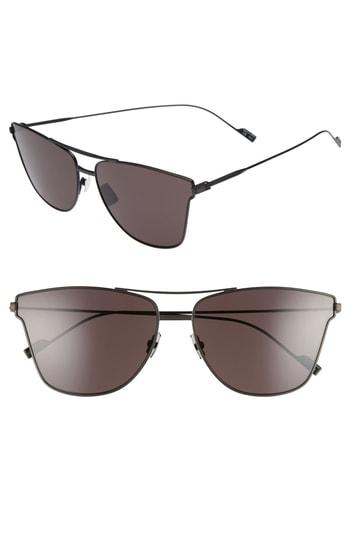 Men's Saint Laurent Sl 51T 63Mm Sunglasses - Black