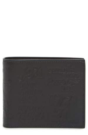 Men's Saint Laurent Stamp Leather Bifold Wallet -